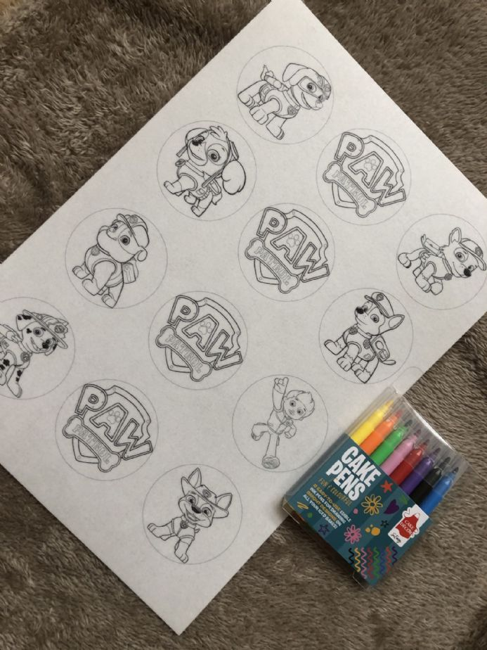 Colour Your Own Paw Patrol  Cupcake Kit